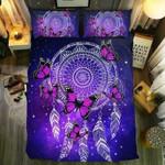 Black Pink Butterfly And Dreamcatchers3D Customize Bedding Set Duvet Cover SetBedroom Set Bedlinen , Comforter Set