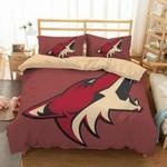 Arizona Coyotes 3D Personalized Customized Bedding Sets Duvet Cover Bedroom Sets Bedset Bedlinen , Comforter Set