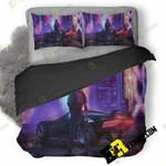 Cyberpunk 2077 Girl Art 25 3D Customized Bedding Sets Duvet Cover Set Bedset Bedroom Set Bedlinen , Comforter Set