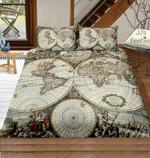 Vintage World Map Of Hemispheres 3D Customize Bedding Set/ Duvet Cover Set/  Bedroom Set/ Bedlinen , Comforter Set