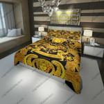 Versace Barocco Logo Golden Custom Bedding Set (Duvet Cover & Pillowcases) EXR8178 , Comforter Set