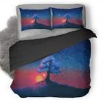 Alone Tree Sunset 3D Personalized Customized Bedding Sets Duvet Cover Bedroom Sets Bedset Bedlinen , Comforter Set