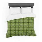 "Matthias Hennig ""Floral Green"" Floral Geometric Cotton3D Customize Bedding Set/ Duvet Cover Set/  Bedroom Set/ Bedlinen , Comforter Set"