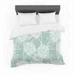 "Gill Eggleston ""Protea Jade White"" Blue Flowers Featherweight3D Customize Bedding Set Duvet Cover SetBedroom Set Bedlinen , Comforter Set"
