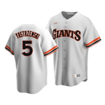 Men's San Francisco Giants Mike Yastrzemski #5 Cooperstown Collection White Home Jersey , MLB Jersey