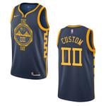 2019-20 Men Golden State Warriors #00 Custom City Edition Swingman Jersey - Navy , Basketball Jersey