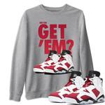 Air Jordan 6 Retro Carmine Sneaker Shirts And Sneaker Matching
