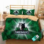 NBA Minnesota Timberwolves4 Logo 3D Personalized Customized Bedding Sets Duvet Cover Bedroom Set Bedset Bedlinen N