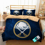 NHL Buffalo Sabres 1 Logo 3D Personalized Customized Bedding Sets Duvet Cover Bedroom Set Bedset Bedlinen N