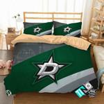 NHL Dallas Stars 3 Logo 3D Personalized Customized Bedding Sets Duvet Cover Bedroom Set Bedset Bedlinen N