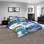 Cartoon Movies The Smurfs D 3D Customized Personalized  Bedding Sets