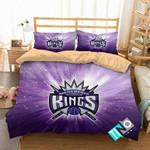 NBA Sacramento Kings 1 Logo 3D Personalized Customized Bedding Sets Duvet Cover Bedroom Set Bedset Bedlinen V