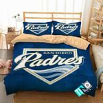 MLB San Diego Padres 2 Logo 3D Personalized Customized Bedding Sets Duvet Cover Bedroom Set Bedset Bedlinen