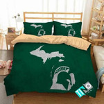 NCAA Michigan State Spartans 2 Logo N 3D Personalized Customized Bedding Sets Duvet Cover Bedroom Set Bedset Bedlinen