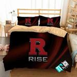 NCAA Rutgers Scarlet Knights 1 Logo N 3D Personalized Customized Bedding Sets Duvet Cover Bedroom Set Bedset Bedlinen