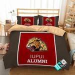 NCAA IUPUI Jaguars 1 Logo N 3D Personalized Customized Bedding Sets Duvet Cover Bedroom Set Bedset Bedlinen