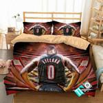 NBA Portland Trail Blazers 3 Logo 3D Personalized Customized Bedding Sets Duvet Cover Bedroom Set Bedset Bedlinen N