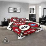 Firefighter Adell-Whitt Volunteer Fire Department 3D Customized Personalized  Bedding Sets