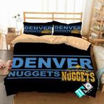 NBA Denver Nuggets 2 Logo 3D Personalized Customized Bedding Sets Duvet Cover Bedroom Set Bedset Bedlinen N