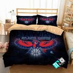 NBA Atlanta Hawks 1 Logo 3D Personalized Customized Bedding Sets Duvet Cover Bedroom Set Bedset Bedlinen V