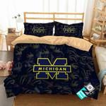 NCAA Michigan Wolverines 1 Logo N 3D Personalized Customized Bedding Sets Duvet Cover Bedroom Set Bedset Bedlinen