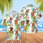Dogue de Bordeaux Dog Tropical Flower Hawaiian Shirt