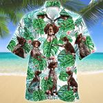 German Shorthaired Pointer Dog Tropical Plant Hawaiian Shirt