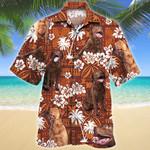 Chesapeake Bay Retriever Dog Red Tribal Pattern Hawaiian Shirt