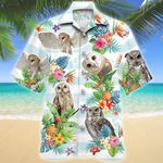 Owl Tropical Flower Hawaiian Shirt