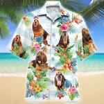 Bloodhound Dog Tropical Flower Hawaiian Shirt