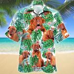 Dogue de Bordeaux Dog Tropical Plant Hawaiian Shirt