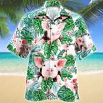 Pig Tropical Plant Hawaiian Shirt