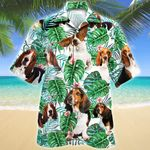 Basset Hound Dog Tropical Plant Hawaiian Shirt