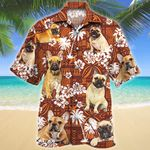 French Bulldog Dog Lovers Red Tribal Pattern Hawaiian Shirt