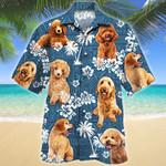 Poodle Dog Lovers Blue Tribal Pattern Hawaiian Shirt