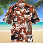 Miniature Schnauzer Dog Lovers Red Tribal Pattern Hawaiian Shirt