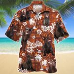 Australian Kelpie Dog Lovers Red Tribal Pattern Hawaiian Shirt