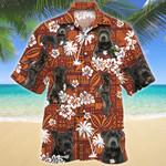 Staffordshire Bull Terrier Dog Red Tribal Pattern Hawaiian Shirt