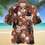 Gordon Setter Dog Red Tribal Pattern Hawaiian Shirt