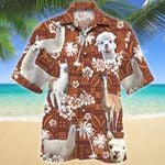 Llama Red Tribal Pattern Hawaiian Shirt