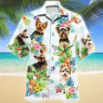 Yorkshire Terrier Dog Tropical Flower Hawaiian Shirt