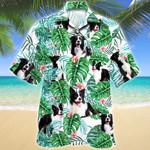 Border Collie Dog Tropical Plant Hawaiian Shirt
