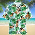 English Mastiff Dog Tropical Plant Hawaiian Shirt
