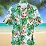Welsh Corgi Dog Tropical Plant Hawaiian Shirt