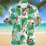 Wire Fox Terrier Dog Tropical Plant Hawaiian Shirt