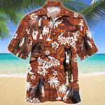 Clydesdale Horse Red Tribal Pattern Hawaiian Shirt