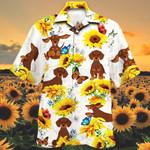 Dachshund Dog Lovers Sun Flower Hawaiian Shirt