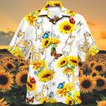 Shiba Inu Dog Lovers Sun Flower Hawaiian Shirt