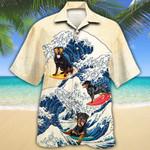 Rottweiler Dog Lovers Wave Hawaiian Shirt