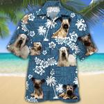 Skye Terrier Dog Lovers Blue Tribal Hawaiian Shirt